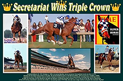 Gatsbe Exchange XXL COMMEMORATIVE 20 X 30 POSTER Secretariat Wins Triple Crown Horse Racing Kentucky Derby Preakness Belmont
