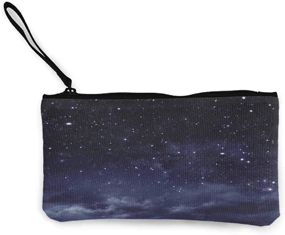 TTmom Carteras de Mujer,Monedero,Night Ethereal View of The Dark Sky Atmosphere Nebula Fantasy Cosmic Universe Theme Wallet Coin Purses Clutch W 8.5