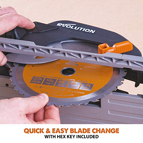 Evolution Power Tools R185CCS Multi-Material Circular Saw, 1600 W, 230 V-Domestic