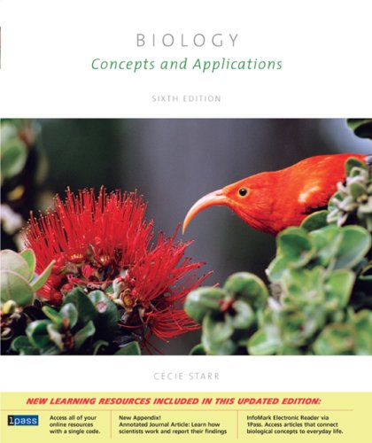 Biology: Concepts and Applications (with CD-ROM, Cover Sheet, Audio Book PAC, Essential Study Skills, and BiologyNOW™-Personal Tutor with SMARTHINKING, InfoTrac® PAC)