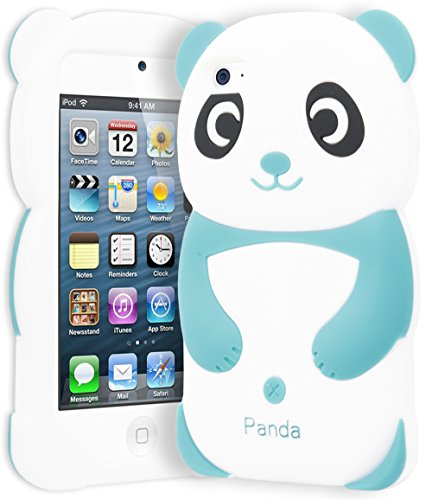 iPod Touch 4 Case, Bastex 3D Silicone Sky Blue & White Panda Bear Case for Apple iPod Touch 4 ... ()