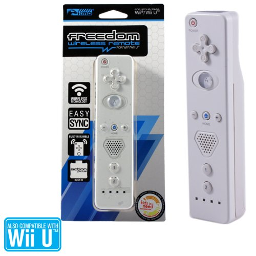 Wii/wii U - Wireless - Controller - Freedom Wireless Remote With Action Plus - White (kmd)