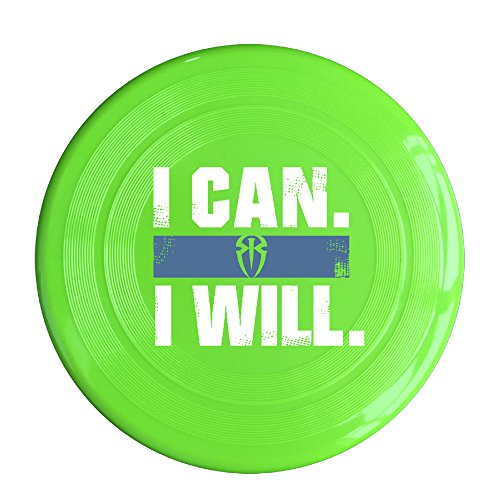 Kim Lennon I Can I Will Roman Reigns Custom Leisure Plastic Frisbee Colors And Styles Vary KellyGreen Size One Size
