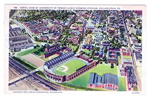 Vintage Postcard of University of Pennsylvania Stadium Postmarked 1936 143513 from Best Authentics