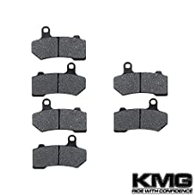 2008-2011 Harley FLHR Road King Front + Rear Carbon Kevlar Organic NAO Brake Pads Set