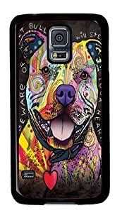 Beware of Pit Bulls PC Case Cover for Samsung S5 and Samsung Galaxy S5 Black