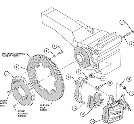 Amazon Com New Wilwood Complete Front Rear Disc Brake Kit With