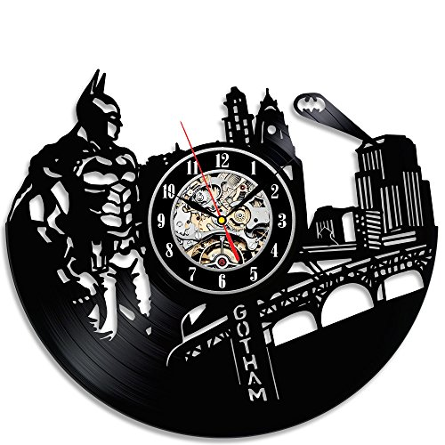 Innovative Batman Vintage Vinyl Record Clock For Sale