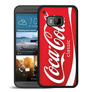 Popular Custom Designed Case For HTC ONE M9 With Red Soda Style Coca Cola Black Phone Case