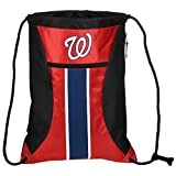 MLB Washington Nationalsbig Stripe Zipper Drawstring Backpack, Washington Nationals, One Size
