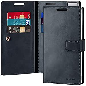 Goospery Mansoor Wallet for Samsung Galaxy Note 10 Plus Case (2019) Double Sided Card Holder Flip Cover (Navy) NT10P-MAN-NVY
