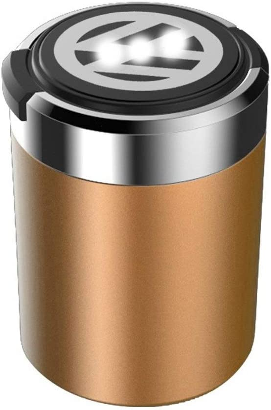 Posacenere Posacenere For Auto Posacenere For LED Senza Luce Blu Fodera For Metallo Rimovibile Facile Da Pulire For Volkswagen.Con Il Logo Dellauto Color : A
