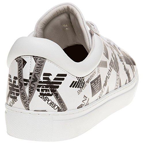 Emporio Armani Heel Logo Cup Sole Uomo Sneaker Bianco Weiß