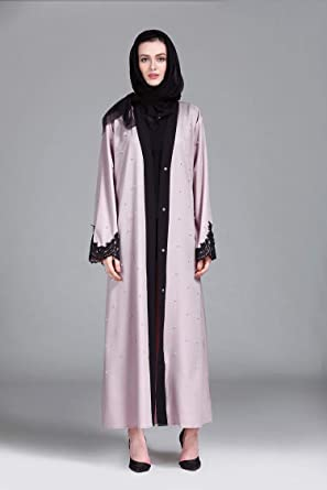 2c5a60de3 Casual Abaya For Women - pink and black: Amazon.ae
