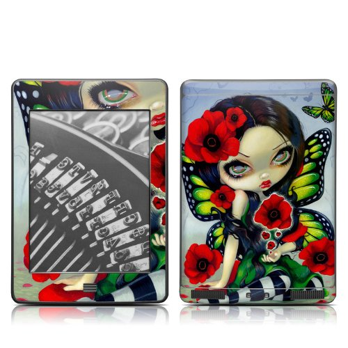 Poppy Magic Design Protective Decal Skin Sticker for Amazon Kindle Touch / Touch 3G (6 inch Ink display with Multi-touch)
