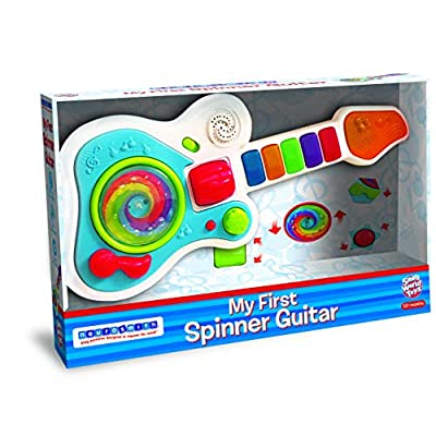 Small World Toys My First Spinner Guitar Toy - Perfect First Instrument for Babies with Flashing Lights: Toys & Games
