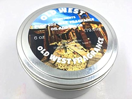 Old west tin candle 6 oz