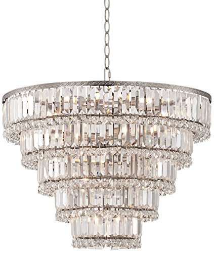 Rectangular Chandelier Nickel (Magnificence Satin Nickel 24 1/2