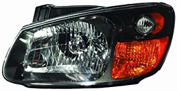 OE Replacement Kia Spectra5 Driver Side Headlight Assembly Composite Multiple Manufacturers Partslink Number KI2502136