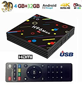TV Box penkou Android TV Box H96 Max Android 7.1.1 OS RK3328 Quad-Core CPU 4G 32G HDMI 3D Smart 4K WiFi Set Top Box
