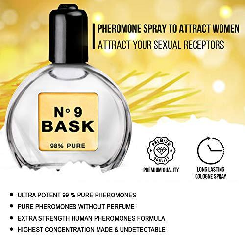 Pheromones for Men 0.50 oz 15 ml – Pure Men Pheromones Without Perfume to Attract Women – Extra Strength Human Pheromones Formula by NO 9 BASK