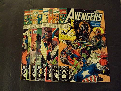 8 Iss Avengers #330-337 Copper Age Marvel Comics