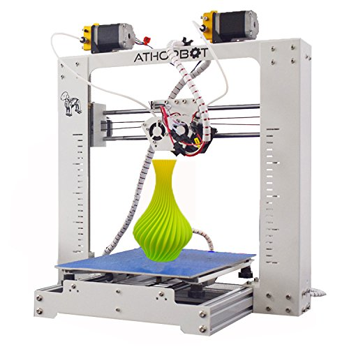 3D Printer, Dual Extruder 3d Printers Prusa i3 , Large Size 2 in 1 Mix Print Single/ Dual/ Mixed/ Graded Color, Athorbot Better Than Other cr-10 /10s, This isn't Mini Filament Diy Kit by Athorbot