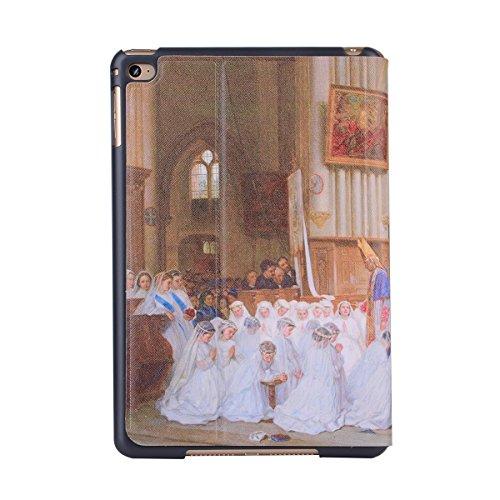 inShang 9.7 inch iPad (2017) Fundas soporte y carcasa para Apple 9.7 inch iPad (2017) , smart cover PU Funda ,art style church