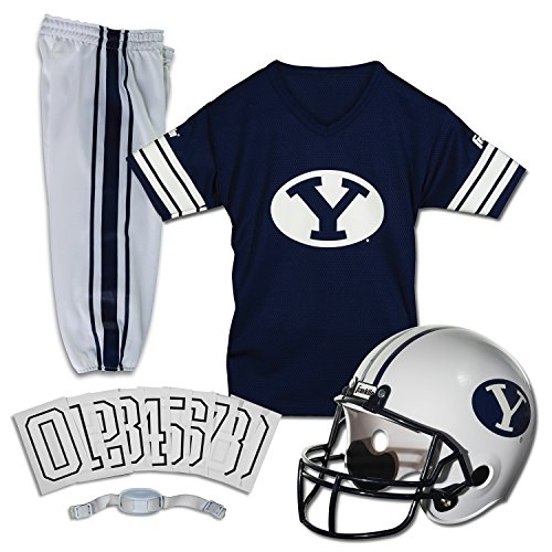 Franklin Sports NCAA Brigham Young Cougars Deluxe Youth Team Uniform Set, -