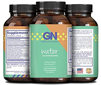Pure Water Away Pills For Weight Loss + Water Retention - Reduce Water Weight - Natural Results with Dandelion Root Extract - Boost Metabolism & Suppress Appetite - For Men & Women