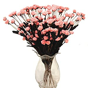 Homcomoda Artificial Flowers Real Touch Fake Rose 10PC for DIY Wedding Party Home Décor 9
