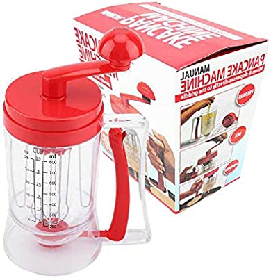 Cooking Crepes and Waffles Muffins Great for Baking Cupcakes Stainless Steel Pancake Batter Dispenser