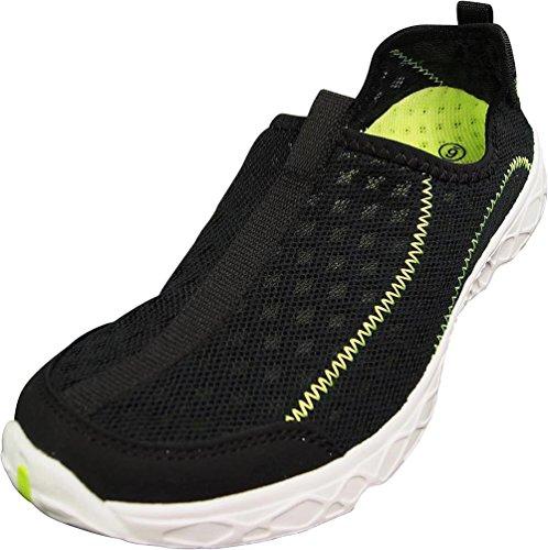 Norty Slip-on Water Zapatos Para Mujeres - Perfecto Para Deportes Acuáticos Y Aeróbicos Acuáticos - Suelas Protectoras Gruesas - Ligero, Cómodo Y De Moda Black / Lime