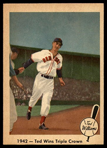 (Baseball MLB 1959 Fleer Ted Williams #19 1942 - Ted Wins Triple Crown NM-MT Red Sox)