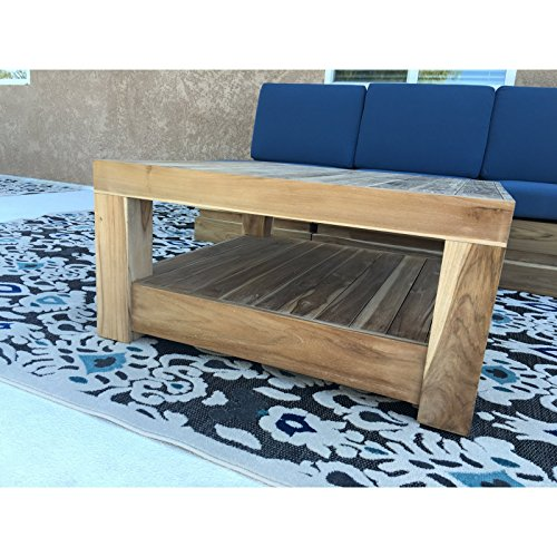 Willow creek designs pacific teak coffee table w x for Willow creek designs
