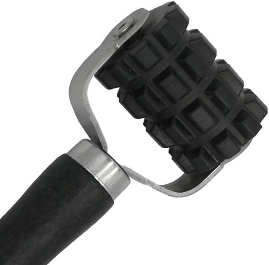 BESPORTBLE Car Vehicle Sound Deadener Application Rolling Wheel Roller Noise Insulation Deadening Reducing Tool Black