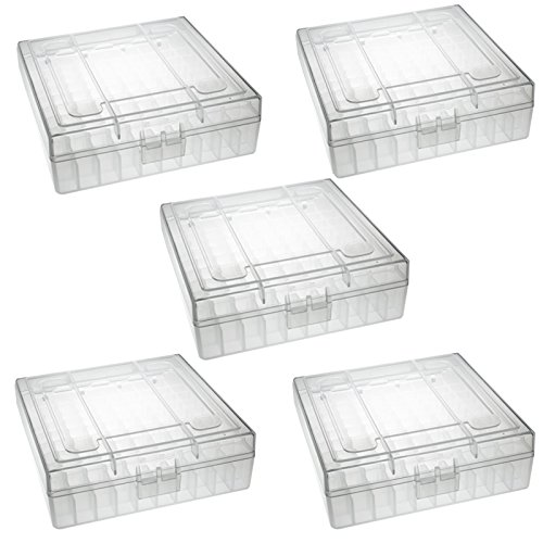 TACBRO Heavy Duty See-Thru Ammunition Storage Boxes .22LR- 5 Pack