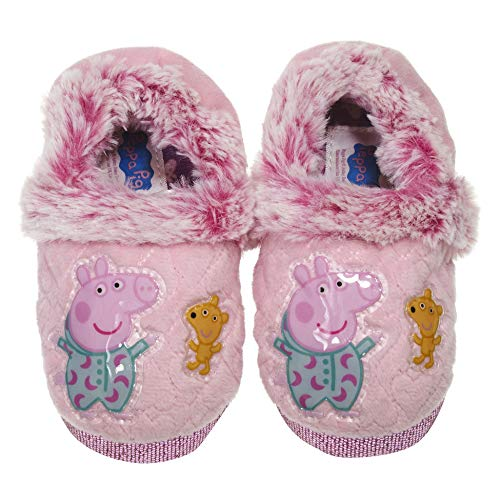 (Peppa Pig Goodnight Slippers for Kids Slippers for Girls, Available in)