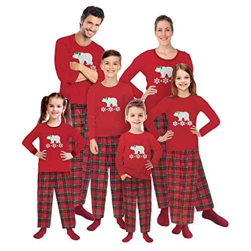 Mad Dog Concepts Polar Bear Fleece Holiday Pajamas—Matching Family Set (With Bonus Non-Skid (Polar Bear Fleece Pajamas)