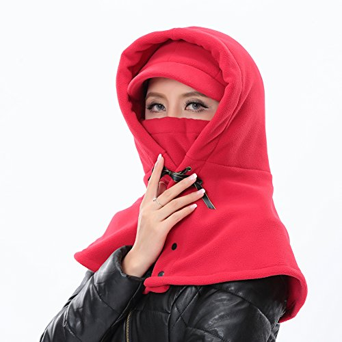 Fashionwu Winter Tippet-Style Warm Fleece Hat Full Face & Neck Mask Windproof Hood for Cycling Outdoor Activities Sports