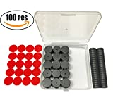 Ceramic Industrial Magnets Round Disc Ferrite Magnets with adhesive 20 dots 11/16 Inch 17.46X4.76mm Grade 5, -100 pcs