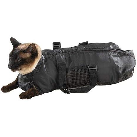 SODIAL Suministro de Mascotas Bolsa de Aseo para Gatos - Bolsa de Sujeción para Gatos,