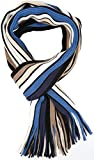 Sakkas 1591 - Rhyland Striped Color Block Knitted Winter Scarf With Fringe - Thin Stripe - OS