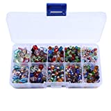 Crystal Beads Sets Mixed Glass Bead for Jewelry Making Loose Beads in Bulk with Box Wholesale Beads (Type3)