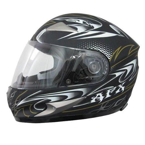 AFX FX-90 W-Dare Helmet , Size: XS, Primary Color: Black, Helmet Type: Full-face Helmets, Helmet Category: Street, Distinct Name: Flat Black W-Dare, Gender: Mens/Unisex 0101-5760