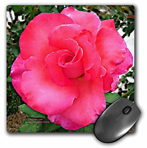 Lee Hiller Designs Roses - Bright Pink Hibiscus Rose - MousePad (mp_5027_1) ()