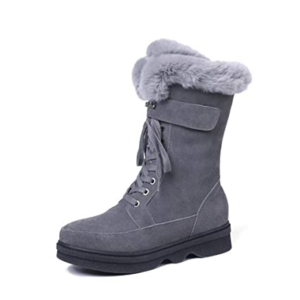 4474a14deffd6 Amazon.com: Hy Women's Snow Boots, Winter Plus Cashmere Warm ...