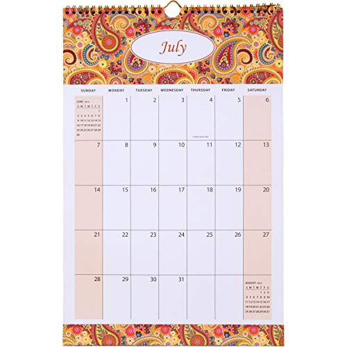 AUROLUXE 2019-2020 Wall Calendar Monthly Wirebound - 11