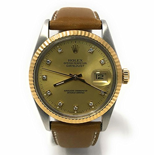 Rolex Datejust swiss-automatic mens Watch 16013 (Certified Pre-owned) (For Authentic Watches Rolex Men)