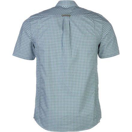 Fred Perry USA Mechanical Stretch Gingham Shirt - Short-Sleeve - Men's Privet, L